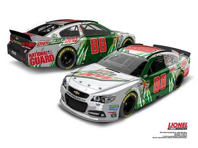 Chevrolet SS Дейла Эрнхардта-мл., вариант с титульным спонсором Mountain Dew, команда Hendrick Motorsports
