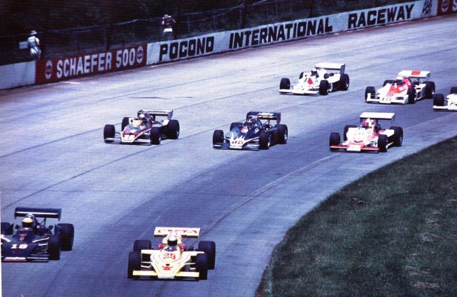 Старт гонки ИндиКара в Поконо в 1978 году