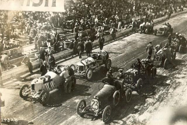 Милуоки, перед стартом гонки, 1912 год