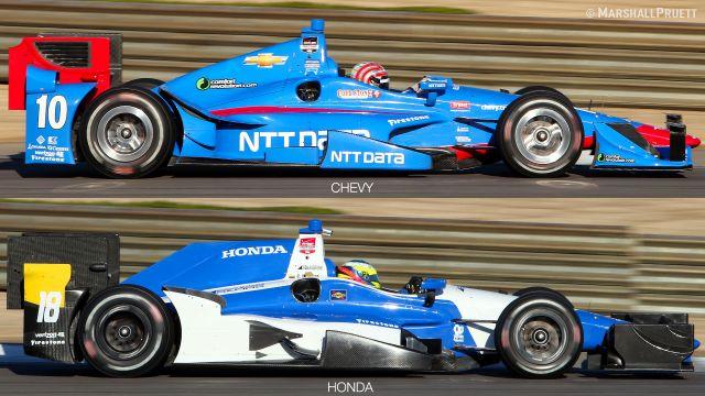 Шевроле и Хонда. На фото Тони Канаан и Карлос Уэртас.